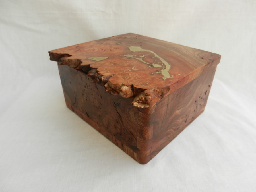 Burr Elm And Brass Box Gallery Ullapool Box Creations