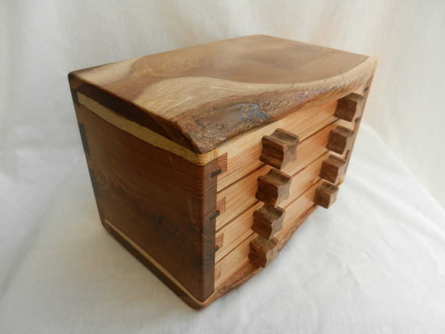 Laburnum 4 Drawer Box With Sindora Burl Knobs Gallery